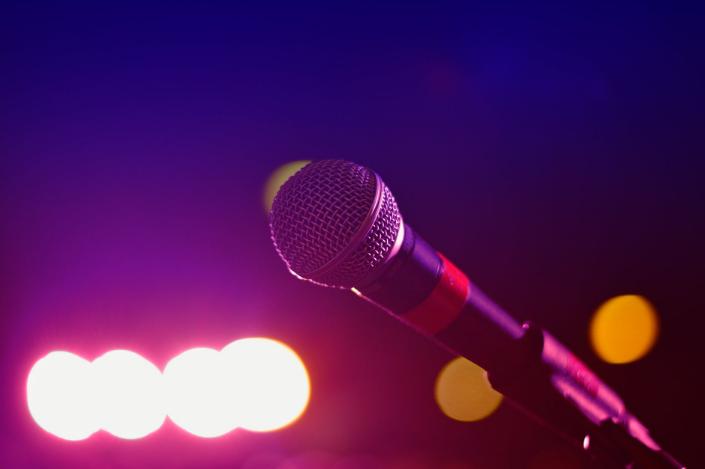 a closeup shot of a microphone